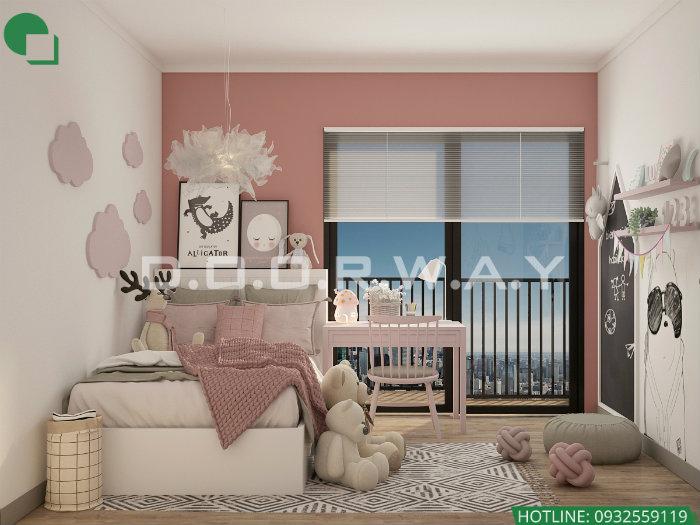 2- Gợi ý 7 mẫu phòng ngủ trẻ em màu hồng bé nào cũng thích mê