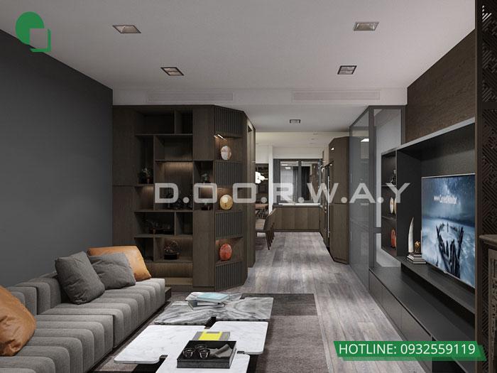 2-thiết kế nội thất phòng khách 25m2