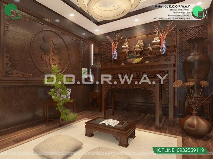 2- Các mẫu trang trí nội thất phòng thờ tôn nghiêm và hợp phong thủy