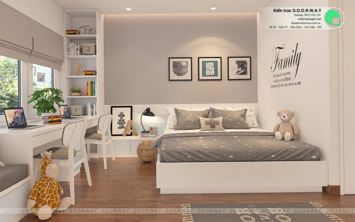 4- Gợi ý 7 mẫu phòng ngủ trẻ em màu hồng bé nào cũng thích mê