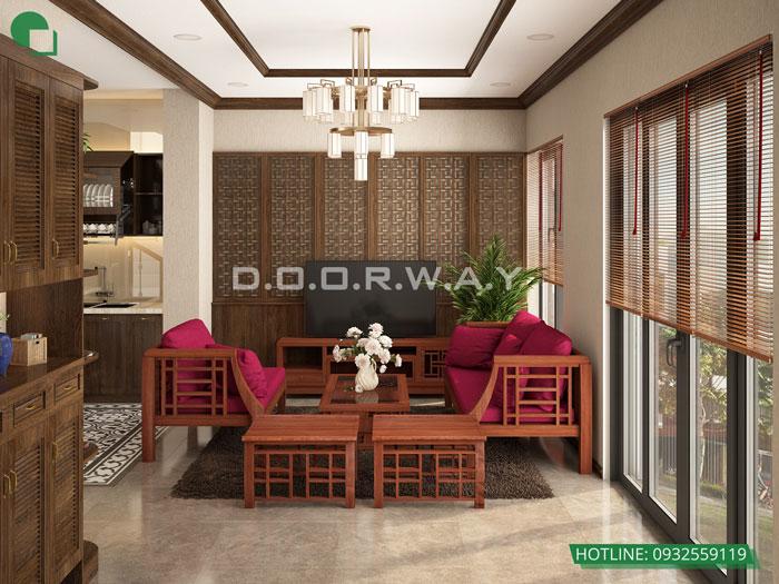 4-thiết kế nội thất phòng khách 25m2