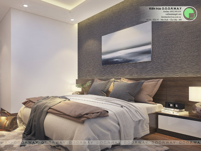 4- Cách thiết kế nội thất phòng ngủ 25m2 đổi tài vận cho chủ nhà