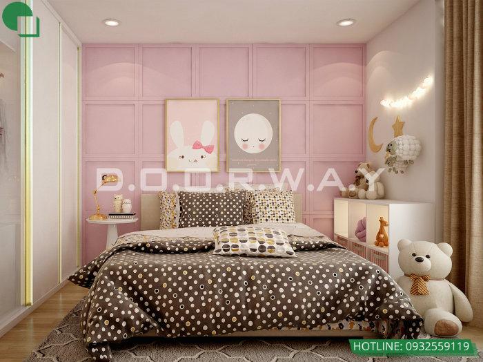5- Gợi ý 7 mẫu phòng ngủ trẻ em màu hồng bé nào cũng thích mê