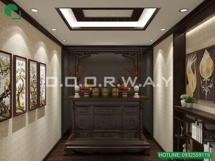 5- Các mẫu trang trí nội thất phòng thờ tôn nghiêm và hợp phong thủy