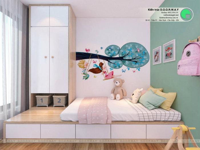 6- Gợi ý 7 mẫu phòng ngủ trẻ em màu hồng bé nào cũng thích mê