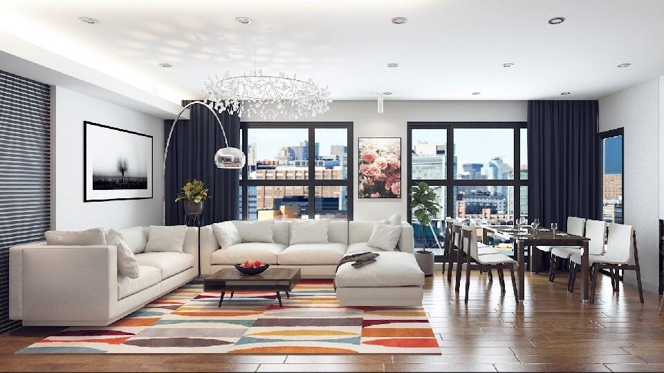 Ảnh tiêu biểu- 6 sai lầm khi chọn màu sơn nội thất phòng khách cần biết để tránh