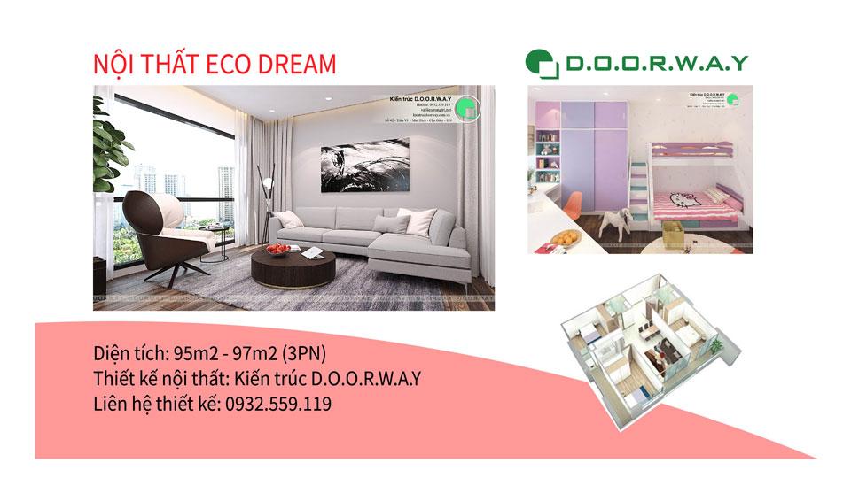 Ảnh tiêu biểu - Khám phá mẫu nội thất căn 3 phòng ngủ Eco Dream