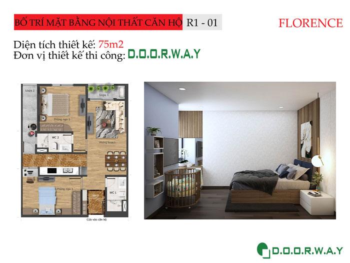 MB-75m2- Tổng hợp thiết kế nội thất căn hộ Florence đẹp nhất 2019