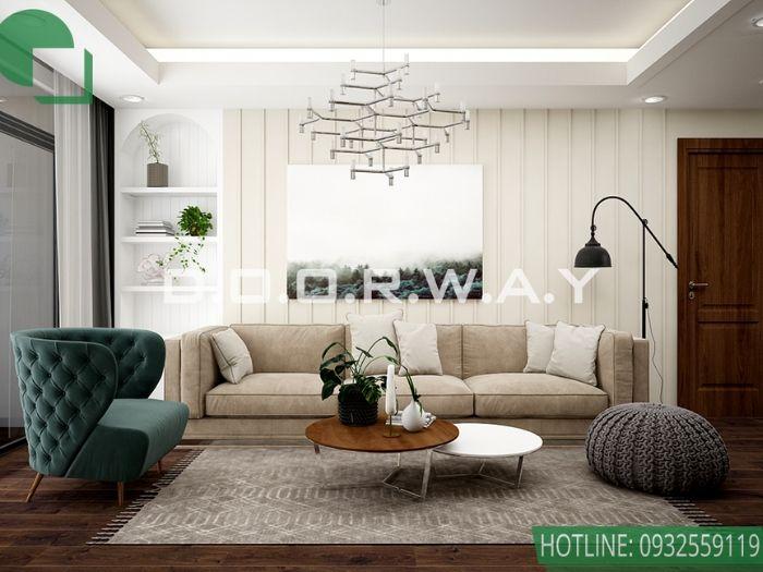 1- Cận cảnh thiết kế nội thất chung cư 70m2 phong cách hiện đại