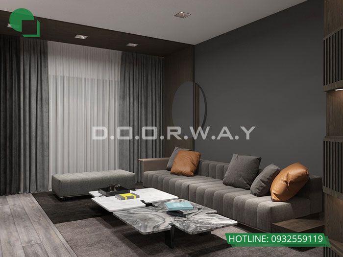 1-thiết kế phòng khách chung cư đơn giản