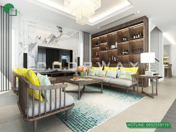 12- 12 mẫu thiết kế và thi công phòng khách đẹp hiện đại