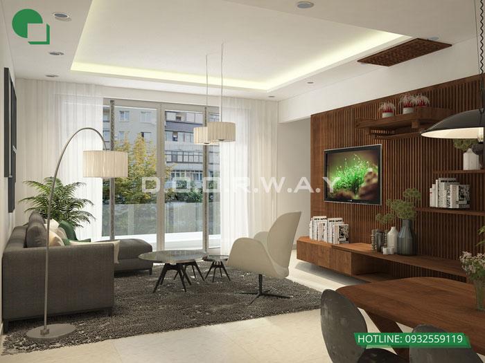 2-thiết kế phòng khách chung cư đơn giản
