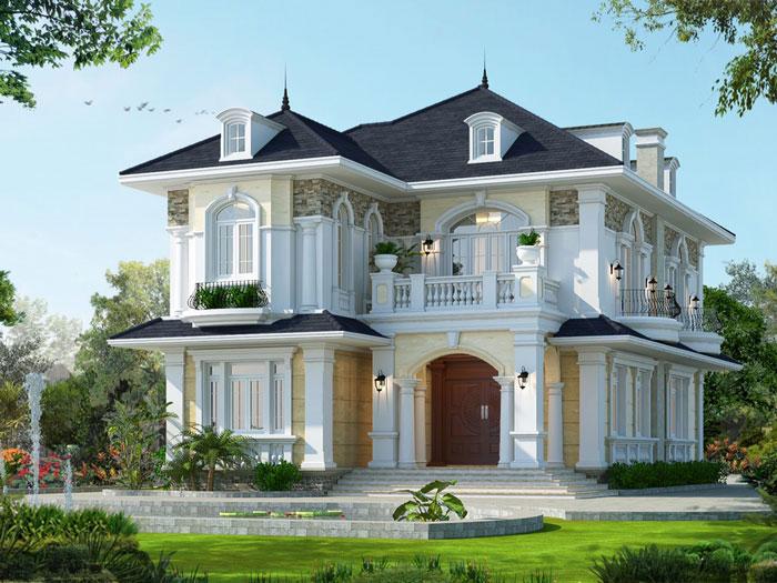 3-thiết kế biệt thự kiến trúc kiểu Pháp