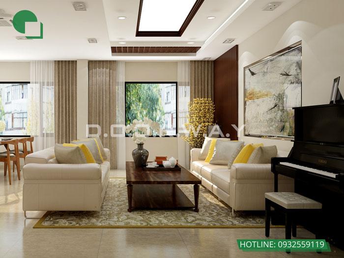 3-thiết kế phòng khách chung cư đơn giản