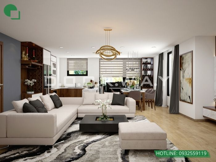 3- 12 mẫu thiết kế và thi công phòng khách đẹp hiện đại