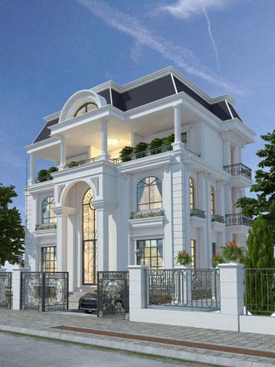 4-thiết kế biệt thự kiến trúc Pháp