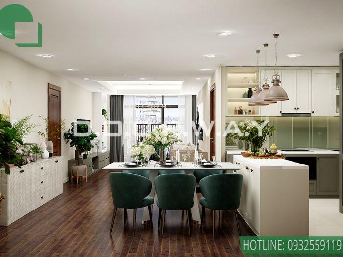 4- Cận cảnh thiết kế nội thất chung cư 70m2 phong cách hiện đại