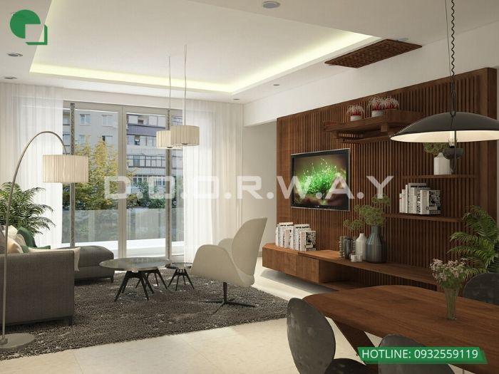 4- 12 mẫu thiết kế và thi công phòng khách đẹp hiện đại