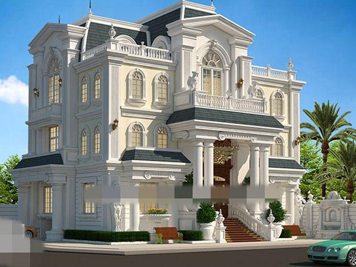 5-thiết kế biệt thự kiến trúc Pháp
