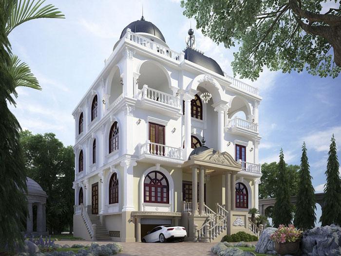 6-thiết kế biệt thự kiến trúc Pháp