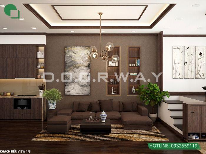 6- 12 mẫu thiết kế và thi công phòng khách đẹp hiện đại