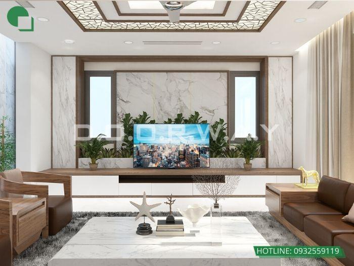 8- 12 mẫu thiết kế và thi công phòng khách đẹp hiện đại