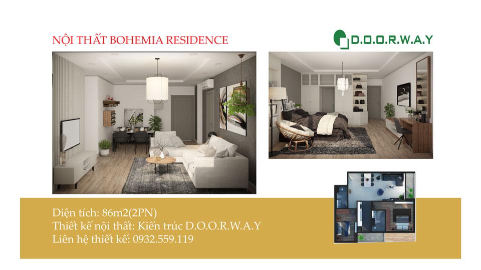 Ảnh tiêu biểu- Bí quyết chọn nội thất căn 2 phòng ngủ Bohemia Residence - Căn hộ D