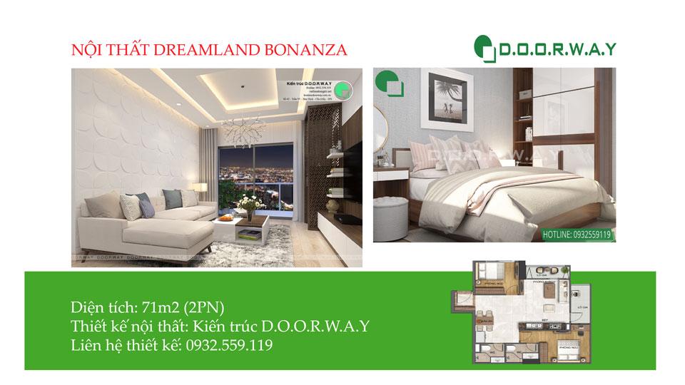 Ảnh tiêu biểu - Bố trí nội thất căn 71m2 Dreamland Bonanza như thế nào cho đẹp?