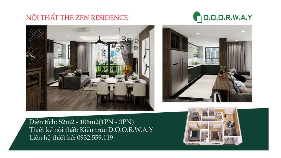 Ảnh tiêu biểu- Ý tưởng thiết kế nội thất căn hộ The Zen Gamuda