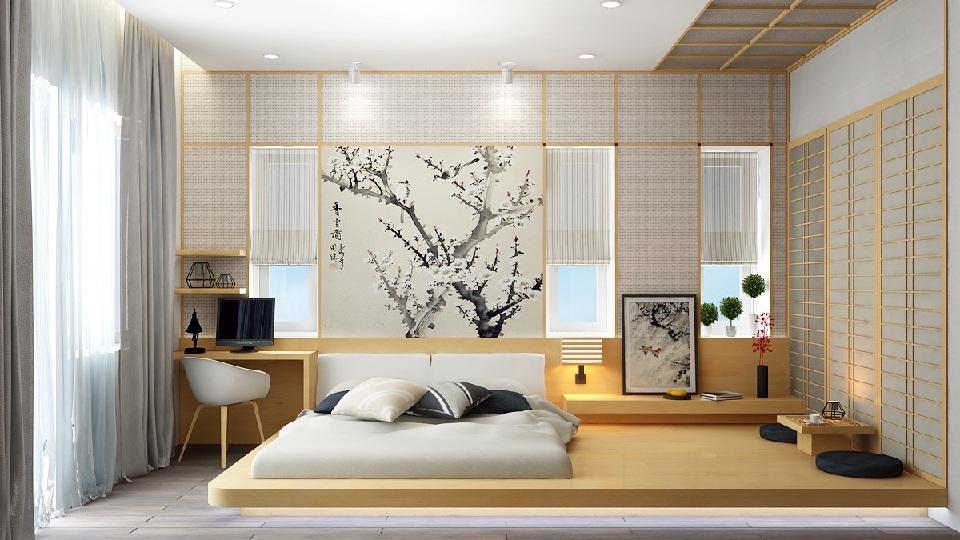 Anhtieubieu- 8 mẫu thiết kế phòng ngủ kiểu Nhật đẹp yên bình, vỗ về giấc ngủ