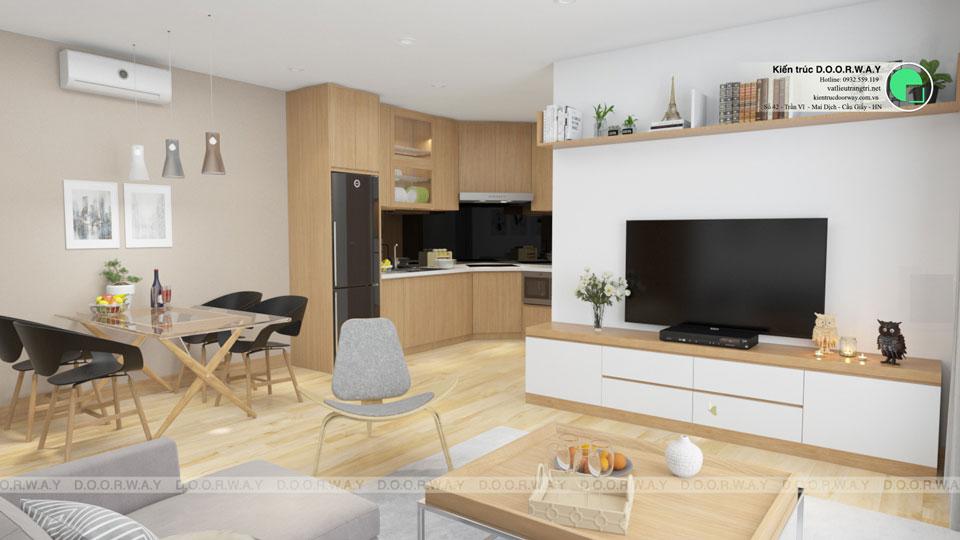 Tại sao nên thiết kế nhà bếp và phòng khách chung
