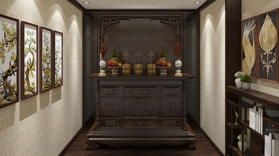 Anhtieubieu- Tuyển tập mẫu thiết kế phòng thờ nhà ống đẹp