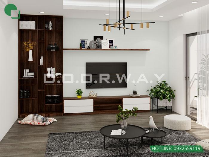 3- Tư vấn thiết kế nội thất nhà phố hiện đại 2 tầng, 3 tầng