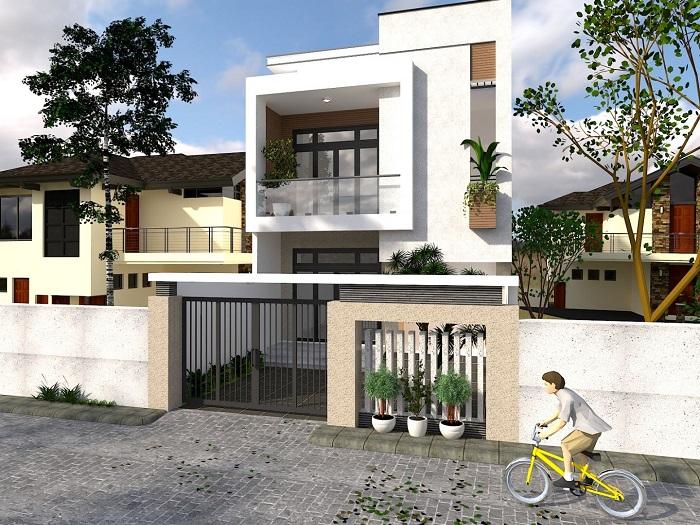 7- Ý tưởng thiết kế nhà 5x18m 2 tầng theo phong cách hiện đại