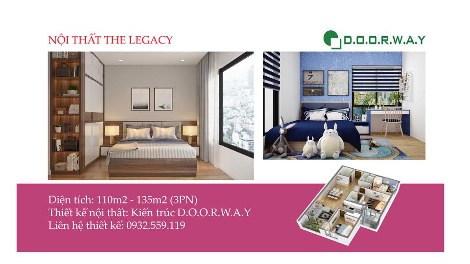 Ảnh tiêu biểu - Thiết kế nội thất căn 3 phòng ngủ The Legacy như thế nào?