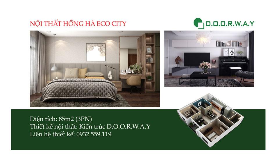 Ảnh tiêu biểu- Đẹp kiểu Bắc Âu với mẫu nội thất căn 85m2 Hồng Hà Eco City