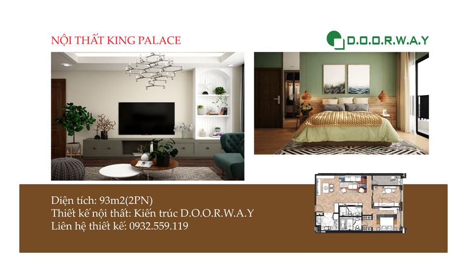 Ảnh tiêu biểu- Cách bố trí nội thất căn 93m2 King Palace - 2PN đẹp