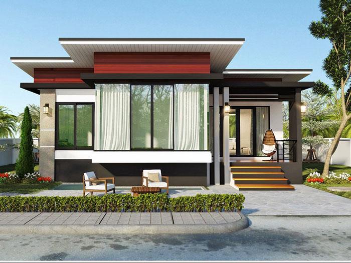 2- Những mẫu thiết kế biệt thự vườn 1 tầng đẹp 2020