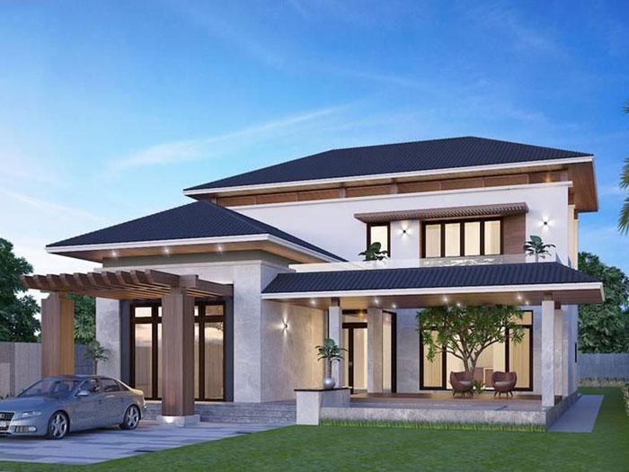 3- Những mẫu thiết kế biệt thự vườn 1 tầng đẹp 2020