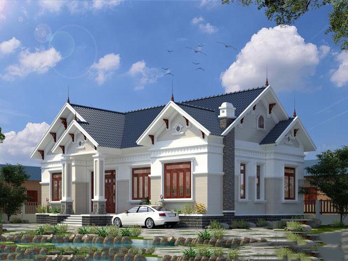 4- Những mẫu thiết kế biệt thự vườn 1 tầng đẹp 2020