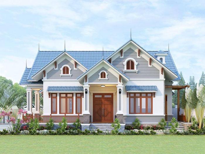 5- Những mẫu thiết kế biệt thự vườn 1 tầng đẹp 2020