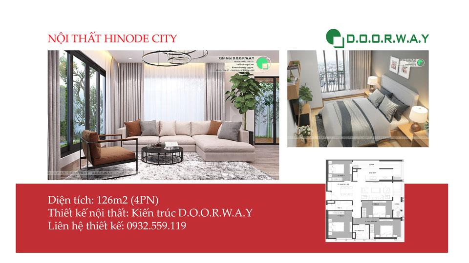 Ảnh tiêu biểu- Bố trí nội thất căn 4 phòng ngủ Hinode City - Căn 126m2