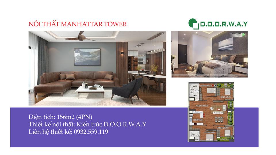 Ảnh tiêu biểu- Nội thất căn 4 phòng ngủ Manhattan Tower - Căn hộ 156m2