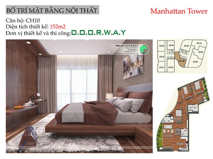 MB-152m2 - Xem trọn nội thất căn 152m2 Manhattan Tower | 2020