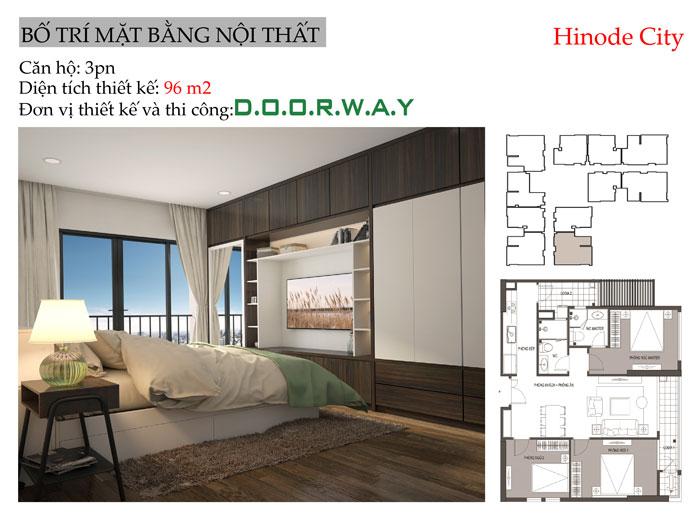 MB-96m2 - Thiết kế nội thất căn 96m2 Hinode City với 3PN đẹp