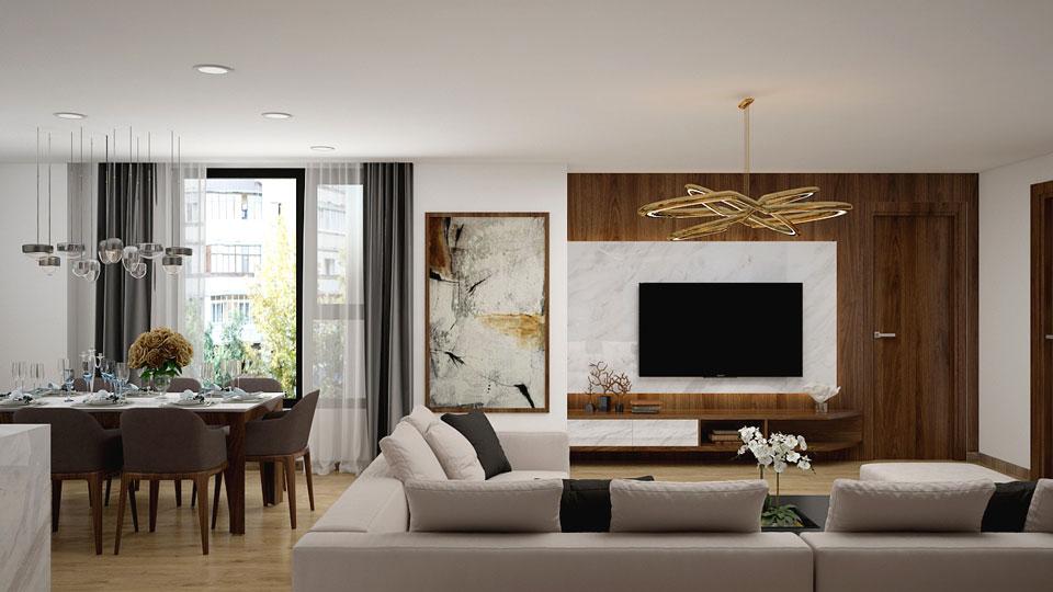 Thiết kế nội thất căn 161m2