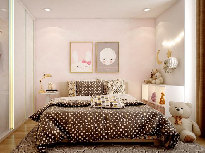 8-9 mẫu phòng ngủ cho bé gái 15 tuổi đơn giản