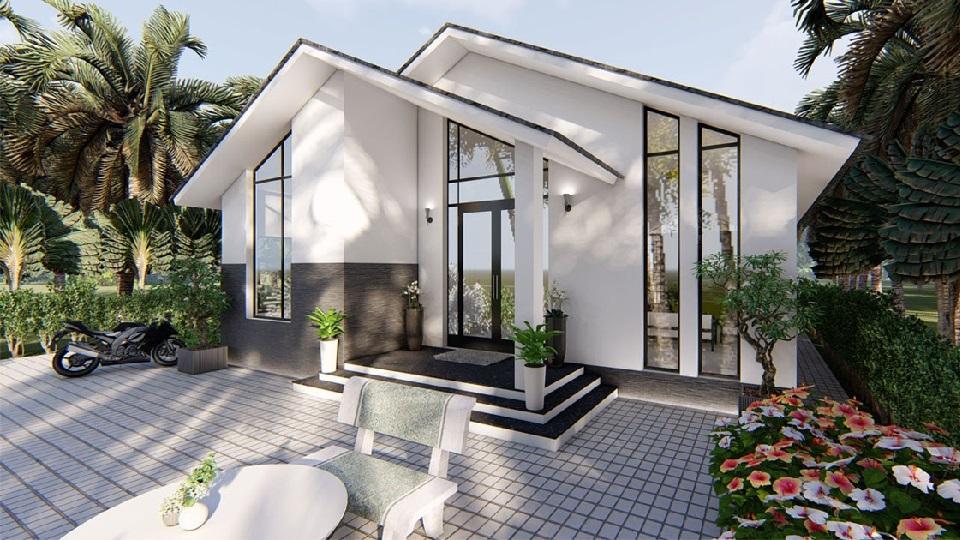 Chiêm ngưỡng các mẫu thiết kế biệt thự nhà vườn có 1-0-2