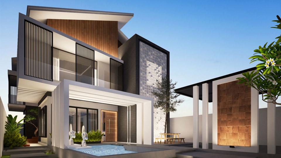Tổng hợp mẫu thiết kế biệt thự 2 tầng 2020