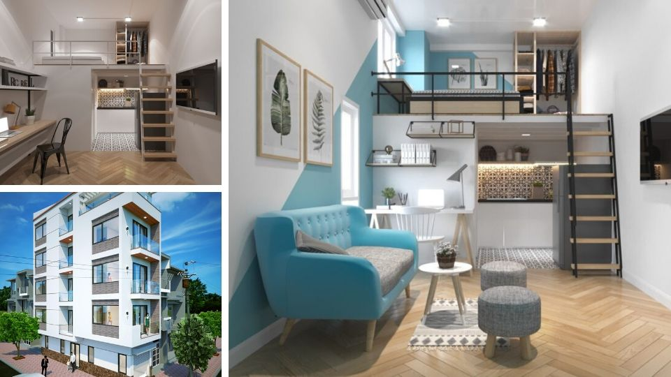 3 mẫu nhà cho thuê hiện đại, tiện nghi,